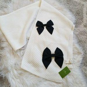 NWT Kate Spade bow scarf